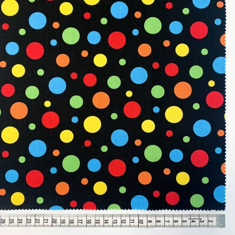 Spots/ Black/Multi