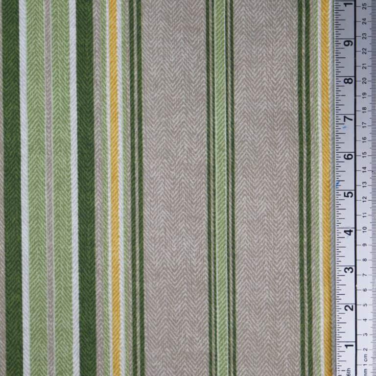 Herringbone Stripe/ Green