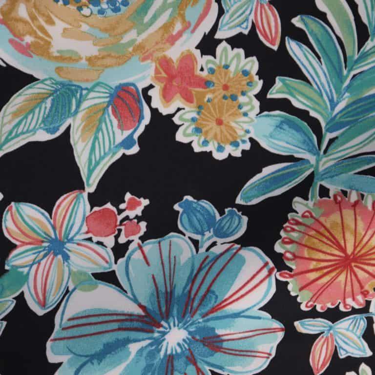 Floral/Black