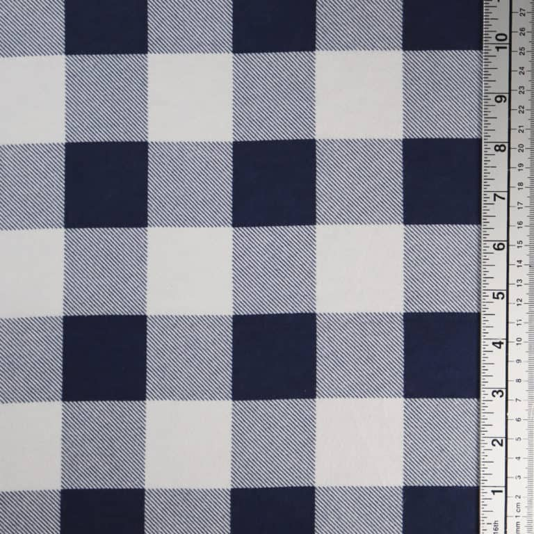 Large Check/Navy/White