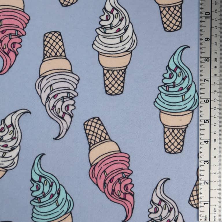 Ice Cream Cones/Light Blue
